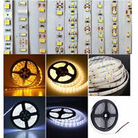 5M LED Flexible Strip Light 3528 2835 3014 5050 5630 Non Waterproof 3M Tape 12V