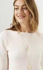 Ann Taylor LOFT Crystal Disc Pendant Necklace Set
