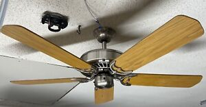 "Casablanca Delta II 50"" Ceiling Fan in Rare Brushed Nickel w/ Light Oak Blades"
