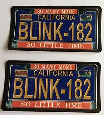 2x blink 182 number plate official stickers
