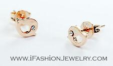 Gold Tone Mini Small Little Bird Twitter Logo Stud Earrings Fashion Jewelry Gift