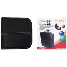 Heitech CD DVD Blu-Ray Tasche für 28 CDs/DVDs Wallet CD-ROM Schwarz Etui
