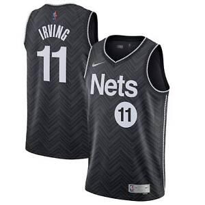 NIKE Men Kyrie Irving Brooklyn Nets Earned Blk Jersey CW6804 011 - Large New
