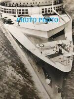 PHOTOGRAPHIE   PAQUEBOT NORMANDIE LINE   SHIP LINER   PHOTO     13x18 cm PHOTO