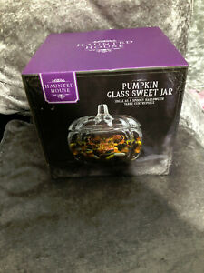 REDUCED - Pumpkin Glass Sweet Jar Halloween Decoration Spooky - Haunted House