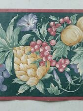 Vintage Wallpaper Border Beautiful Grapes Fruits NIP 60FT 4 Roll 15ft Ea
