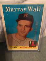 2017 Topps Rediscover Buyback Silver Stamp 1958 Murray Wall  #410