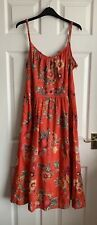 Monsoon Red Floral Summery Dress Size 18