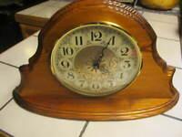 "WATERTOWN Minnesota Dial Made in Germany Shelf Mantel Wood 10 "" x 17 inch - GWC"