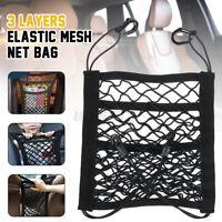 Car Elastic Mesh Net Bag Between Seat Accessories Storage Luggage Holder Pocket