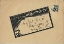 1907 Commercial Cover/Catalog fr Philadelphia, Pa to Sanford, Me (D'Olier Lamps)
