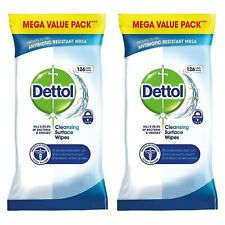 2 x Dettol Surface Cleansing 126 Wipes