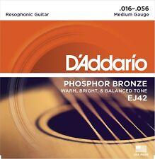 D'Addario Guitar Strings  3 Pack  EJ42  Resophonic  Phosphor Bronze