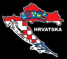 voiture CROATIE AUTOCOLLANT STICKER HRVATSKA CROATIE drapeau fanion CARTE GRB
