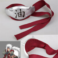 New Naruto Jiraiya Headwear Headband Cosplay Props Anime Accessory Head Guard