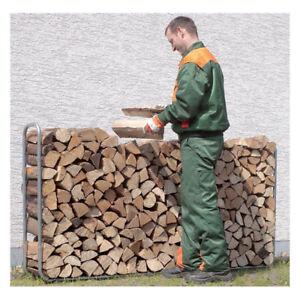 Large Log Store Metal Outdoor Wood Firewood Storage Rack Shelf Holder Stand NEW