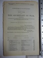 Government Report 1885 Sec War, Statement of Expenses Contingent Fund, #3127