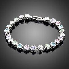 18K Gold GP Made With Swarovski Crystal Elements Bling Bangle Bracelet Clearance
