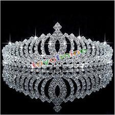 Wedding Bridal Princess Crystal Hair Accessory Tiara Party Crown Veil Hair Comb