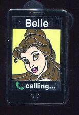 WDW 2014 Hidden Mickey Princess Mobile Cell Phones Belle Disney Pin 102258