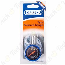 Draper® Tyre Pressure Gauge HIGH QUALITY HAND HELD DIAL 42mm Bezel 0-60 PSI Tool
