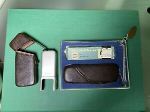 Vintage Minox B Subminiature Spy Camera with Filterset, BC Flashgun, Box, Manual
