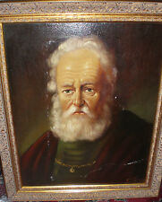 TOPMAN  H J  (1907 - ) Netherlands  Portray of an old scholar oil mid 20th cent