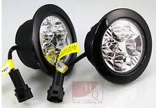 DRL Daytime Running Light Round 4-LED CREE HQ-V28 fit Ford Transit Van Motorhome