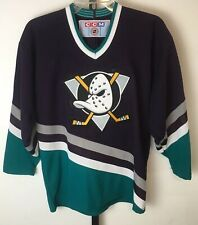 Vintage CCM Mighty Ducks Hockey Jersey Boys Youth L/XL Official NHL Merchandise