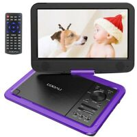 "12"" Portable CD/DVD Player HD Widescreen Display Built-in Rechargeable Battery"