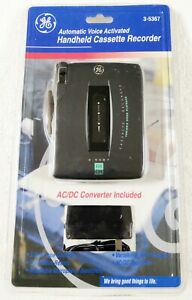 GE Automatic Voice Activated Handheld Cassette Recorder Portable Tape 3-5367