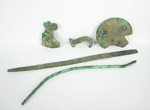 5 Elementi Oggetti Di Archeologici Utensili Bronzo Artefatto