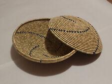 """Hand Made Woven Bowl / Basket 8"""" Round ~Tutsi/Hutu Tribes"""