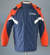 Illinois Fighting Illini Full Zip/Button Detatchable Hood Youth Coat Size 18