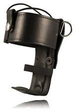 Boston Leather Genuine Leather Universal Firefighter's Radio Holder, Police Ems