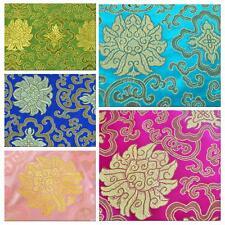 Faux Silk Brocade (Lucky Aster) Jacquard Damask Kimono Fabric Material BL19