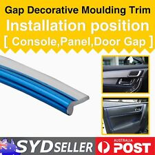 24FT Chrome Blue Auto Mouldings Trim Dashboard Garnish Made Interior pop Strip