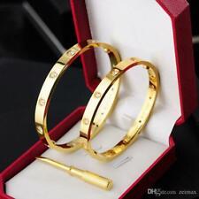 Rose Gold 316L Stainless Steel Screw Bangle Bracelet