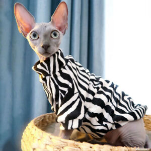 Sphynx Cat Spring Autumn Naked Cat Apparel Cat Outfits Warm Hairless Cat Clothes