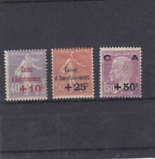 FRANCE 1928 CAISSE AMORTISSEMENT 3 TIMBRES NEUF * AVEC CHARNIERE YT 249 A 251