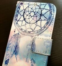 For iPhone 7 / 8 - Credit Card Wallet Diary Pouch Case Cover Blue Dreamcatcher