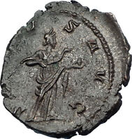 VICTORINUS  269AD Silvered Authentic Ancient Roman Coin Salus Health i65625