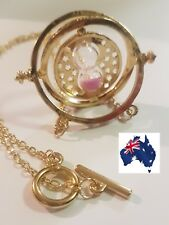 Harry Potter Time Turner Hermione Granger Rotating Hourglass Necklace