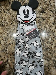 DISNEY MICKEY MOUSE HANGING KITCHEN TEA TOWEL WITH CLOTH HANGER 100% COTTON NIP