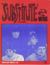 WHO  POSTER. Substitute, Mod, Scooter, Quadrophenia.