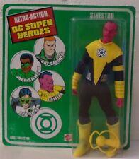 "Sinestro Yellow Retro-Action DC Super Heroes 8"" Figure ""Mego"" Mattel Lantern"