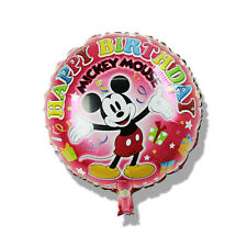 45cm Disney Mickey Mouse Red Round Foil Balloon Boy Happy Birthday Party Favor