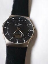 Armbanduhr Skagen Funkuhr, Herren Titanium, Radiocontrolled, seltene Uhr schwarz