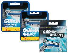 32 Gillette Mach3 Turbo Rasierklingen in 2x 12er = 24 + 8er OVP = 32 Stück