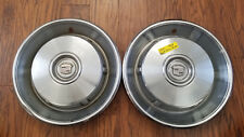 """PAIR of 1966 Cadillac DeVille Hub Caps 2 qty 15"""" Wheel Covers 3513766 HOL #2001A"""